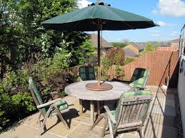 Lazy Susan Turntable For Patio Table Wooden 4 Seater Patio Set With Seat Cushions Parasol And U0027lazy