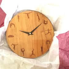 yoga clock yoga yoga wall clock wood wall clock wall
