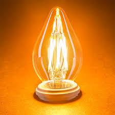 Dimmable Led Chandelier Light Bulbs F15 Led Filament Bulb 40 Watt Equivalent Led Chandelier Bulb W