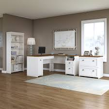 Bookcase With Filing Cabinet Beachcrest Home Oakridge L Shaped Executive Desk With Bookcase And
