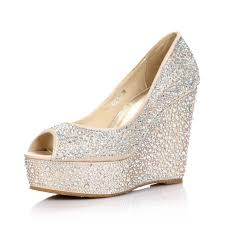 Wedding Shoes Ideas Gold Wedge Shoes For Wedding Tbrb Info