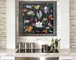 mosaic backsplash etsy