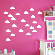 online get cheap baby room wall murals aliexpress com alibaba group 50pcs mini clouds vinyl wall stickers white clouds wall sticker for kids room baby wall decals