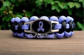 periwinkle ribbon periwinkle awareness ribbon bracelet survival paracord bracelet