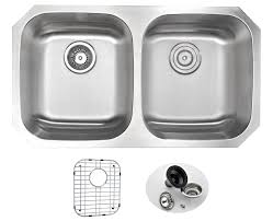 ANZZI MOORE Undermount Stainless Steel  In Double Bowl Kitchen - Kitchen sink and faucet sets