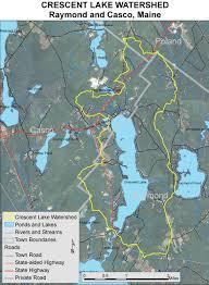 Cumberland Lake Map Lakes Of Maine Lake Overview Crescent Rattlesnake Lake