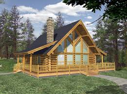mini log cabin floor plans