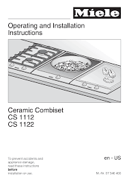 download free pdf for miele cs 1112 e range manual