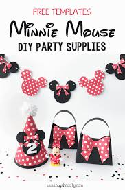 minnie mouse diy party supplies bugaboocity
