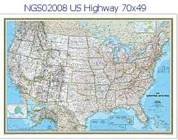 map us hwy national geographic u s highway 70 x 49