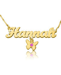 The Name Necklace Personalized Nameplate Necklace Name Necklace The Name Necklace