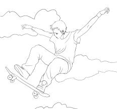 sketch guy on a skateboard by hatigatsu on deviantart