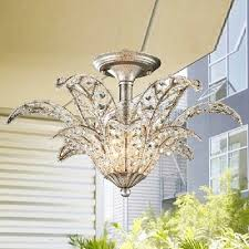 fashion style chandeliers semi flush mount crystal lights