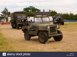 old truck jeep old us army m35 troop truck and raf crash landrover at smallwood