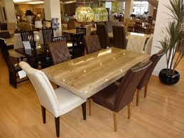 Dinner Table Set by Harmonize Kind Of Granite Top Dining Table In Modern Kitchen
