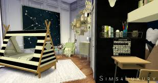 boy room sims4luxury sims 4 room cc pinterest sims