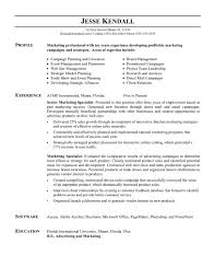 Objective Statement For Marketing Resume Marketing Example Marketing Resume