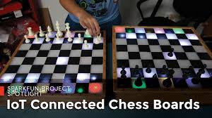 iot connected chess boards from sparkfun youtube