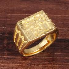 gold square rings images Opk men gold color jewelry rings for man exquisite men 39 s ring get jpg