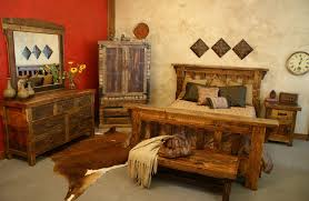 Western Bed Frames Rustic Western Bedroom Interior Design With Furniture Such As