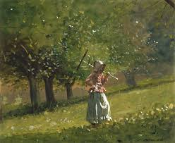 W Homer Artist by With Hay Rake 1878 Winslow Homer Wikiart Org