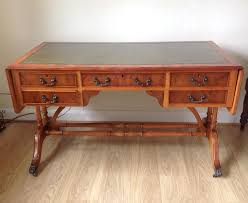 leather top side table drop leaf table second hand household furniture buy and sell in