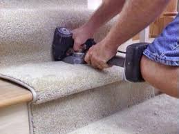 Laying Carpet On Laminate Flooring How To Install A Carpet Runner On Stairs Hgtv