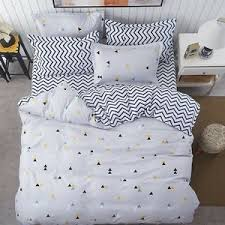 triangle bedding gray black yellow triangle print bedding set full queen king size