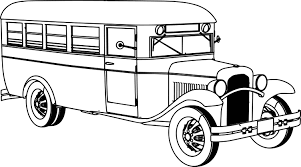 old bus coloring page wecoloringpage