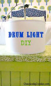 Pendant Light Drum Shade Drum Light Diy Chaotically Creative