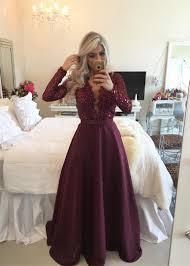 glamorous long sleeve beadins appliques prom dresses 2016 long on