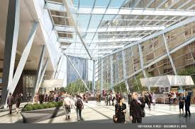 glass atrium proposed for 100 federal st boston herald