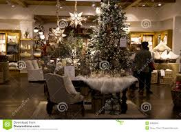 christmas trees home goods decor store editorial image image