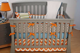 gray chevron crib bedding fabric special gray chevron crib