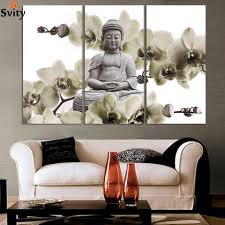 free shipping buy best hd buddha canvas prints modern 3 panels