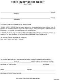 printable sample 3 day eviction notice form real estate forms