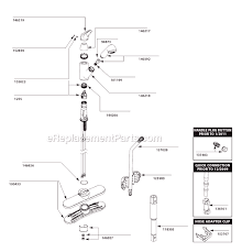 kitchen sink faucet parts diagram moen 67570c parts list and diagram ereplacementparts com