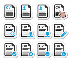 Resume Icons Free Cv Curriculum Vitae Resume Icons Set Stock Images Image 30386594