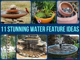 how to make a water feature from a repurposed item water
