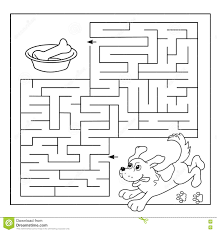 coloring page maze coloring pages education labyrinth game