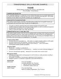 Management Skills On Resume Cover Letter Examples Of Resume Skills Examples Of Resume Skills