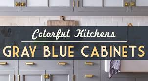 Grey Blue Cabinets Kitchen Cabinetry Blue Gray Color Home Ideas Interior Design