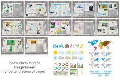 newspaper indesign template tabloid design pinterest