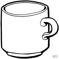 tea cup coloring free printable coloring pages