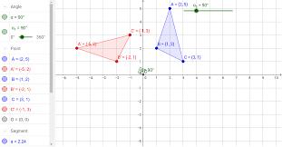 rotations in the coordinate plane geogebra