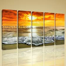 abstract sunset glow landscape beach ocean painting print canvas huge abstract sunset glow landscape beach ocean painting print canvas wall art