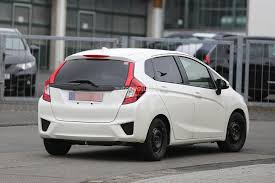 cars honda spyshots all new 2015 honda jazz testing in europe for the first