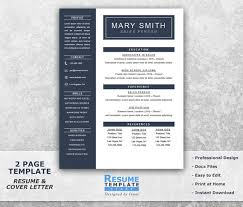 One Page Resume Example by One Page Resume Template Word Resume Cover Letter Templates