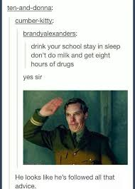 image result for stay in drugs don t do school sherlock my fandom