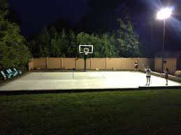 some people play basketball at cool night rather than during day